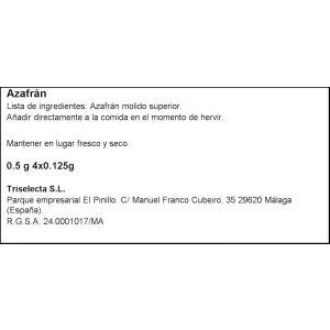 Azafran natural triselecta  5g