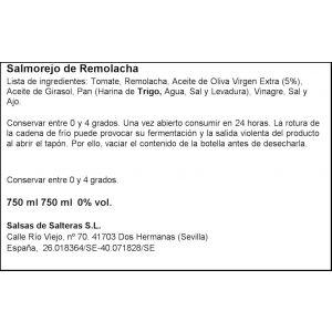 Salmorejo natural remolacha garcia millan pet 750ml