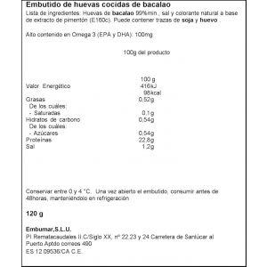 Bacalao hueva embutida  embumar  120g