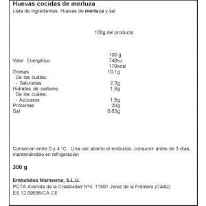 Merluza huevas cocidas  embumar  300g
