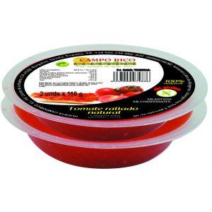 tomate rallado natural campo rico pack de 2 unidades de 110g