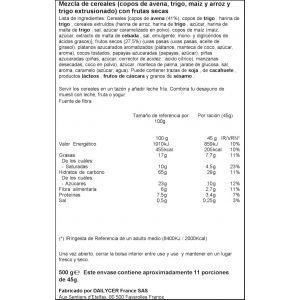 Cerales muesli crujientes con frutos rojos ifa eliges 500g