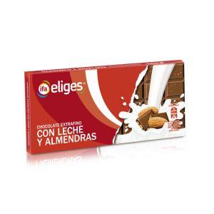 Chocolate con leche con almendras ifa eliges  150g