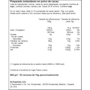 Cacao instantaneo ifa eliges 800g