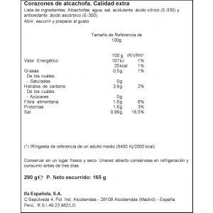 Alcachofa cor 12/16 ifa eliges t 165g ne
