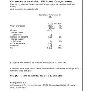 Alcachofa cor 16/20 ifa eliges t 380ne