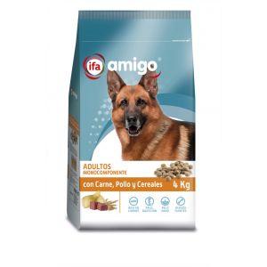 Comida perro carne/pollo/cereales ifa amigo 4k