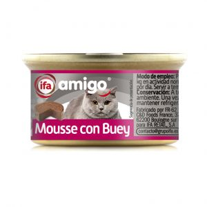 Comida gato mousse buey ifa amigo  85g