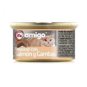 Comida gato mousse salmon/gambas ifa amigo 85g