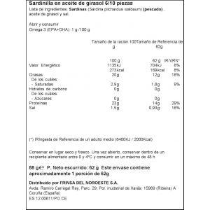 Sardinilla  aceite de girasol ifa eliges 6/10 rr90 62gne