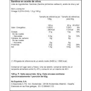 Sardinilla aceite oliva ifa eliges rr-90 62g
