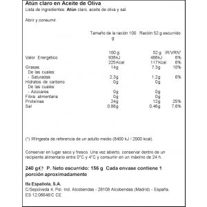 Atun claro aceite de oliva ifa eliges ro80 p3x52g ne