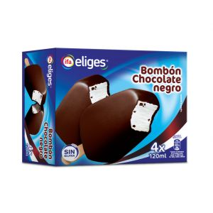 Helado bombon de chocolate negro ifa eliges p4x120ml