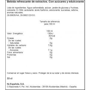 Refresco  cola ifa eliges lata 33cl