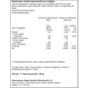 Aceituna manzanilla rodaja ifa eliges tarro