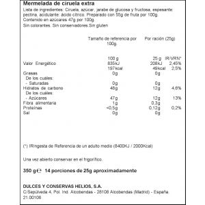 Mermelada ciruela ifa eliges 350g