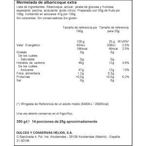 Mermelada albaricoque ifa eliges 350g