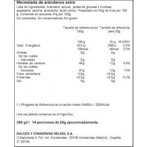 Mermelada arandanos ifa eliges 350g