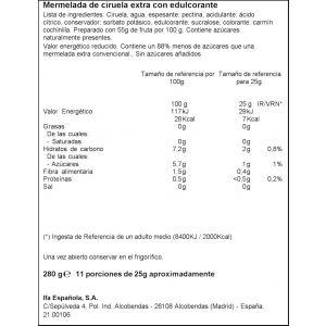 Mermelada diet ciruela ifa eliges 280g