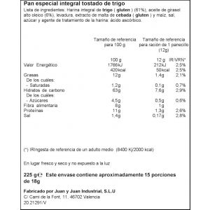 Panecillos integrales ifa eliges 225gr