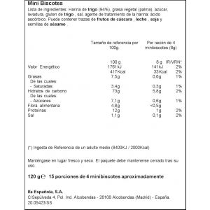 Minibiscotes   ifa eliges  120g