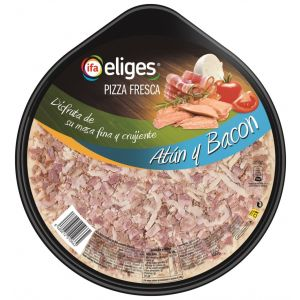 Pizza fresca de atún y bacon ifa eliges 400g