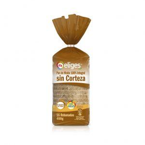 Pan molde  sin corteza integral ifa eliges  450g