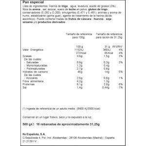 Pan molde rustico  ifa eliges  500g