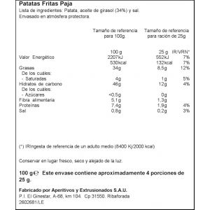 Patatas fritas paja  ifa eliges 100g