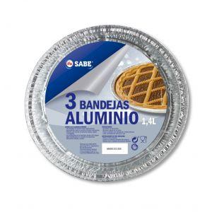 Bandeja redonda con blonda aluminio ifa sabe 3 ud