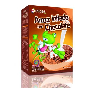 Cereales de arroz inflado chocolateado ifa eliges 500g