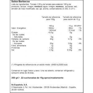 Salsa barbacoa ifa eliges 340g