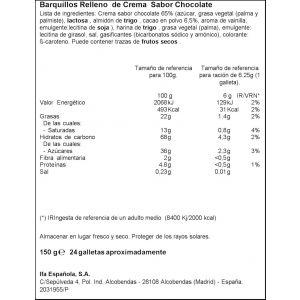 Galleta barquillo choco ifa eliges 150g
