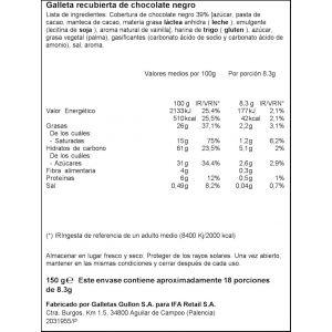 Galleta aros choco negro ifa eliges  150g