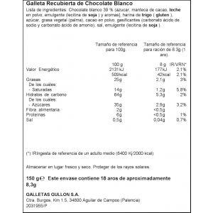 Galleta aros choco blanco ifa eliges 150g