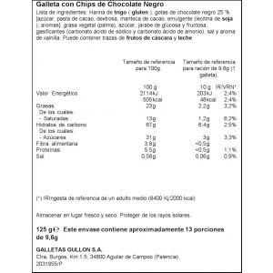 Galleta chips choco ifa eliges 125g