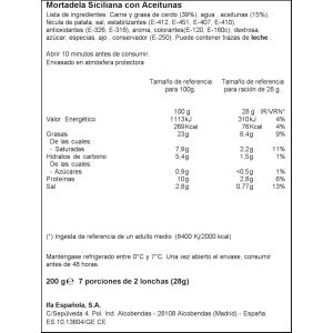 Mortadela siciliana con aceitunas ifa eliges lonchas 200g