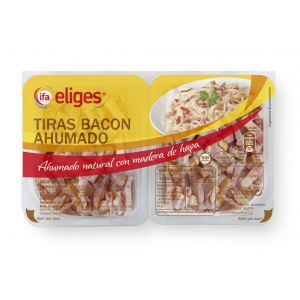 Tiras bacon ahumado ifa eliges p2x100g