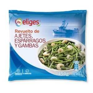 Revuelto gambas/ajetes/trigueros ifa eliges 450g
