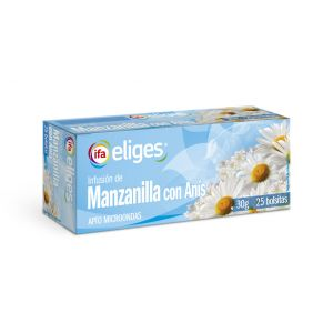 Infusion manzanilla con anis ifa eliges 25 sobres