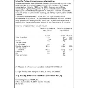 Infusion relajante ifa eliges 20 sobres