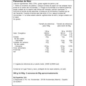 Palomitas microondas sal ifa eliges 3x100g