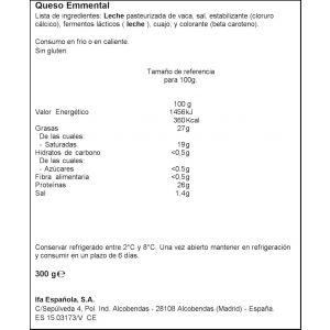 Queso emmental ifa eliges porcion 250g