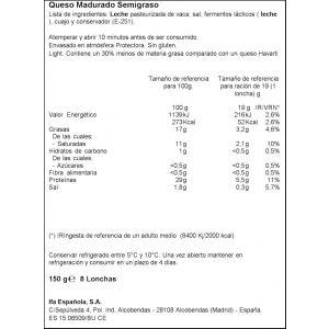 Queso havarti light ifa eliges lonchas 150g