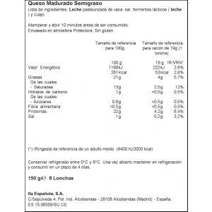Queso mozzarella ifa eliges lonchas 150g