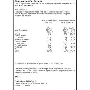 Almendra largueta tostadas natural ifa eliges 200g