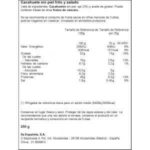 Cacahuete repelado frito ifa eliges 250g
