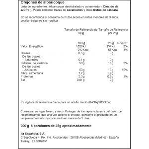 Orejones de albaricoque  ifa eliges 200g