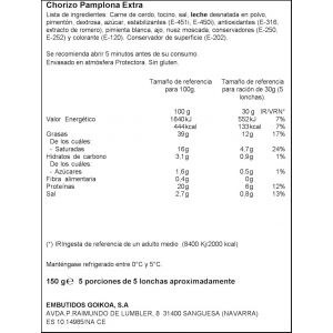 Chorizo pamplona ifa eliges lonchas 150gr