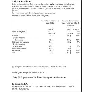 Salchichón extra ifa eliges lonchas 150g
